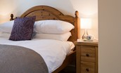 The Bothy at Swinton Hill - bedroom bedside