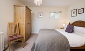 The Bothy at Swinton Hill - bedroom with double bed