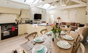 The Cowshed - open plan kitchen & living area