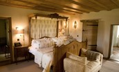 Fenton Tower - The Ruthven - with an unusual provincial king size bed and ample storage