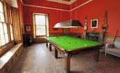 The Gate House - shared billiard room
