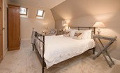 The Mill House - bedroom one with double bed