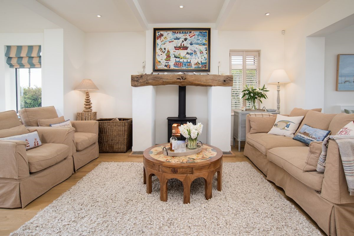The Shieling - sitting room with wood burning stove