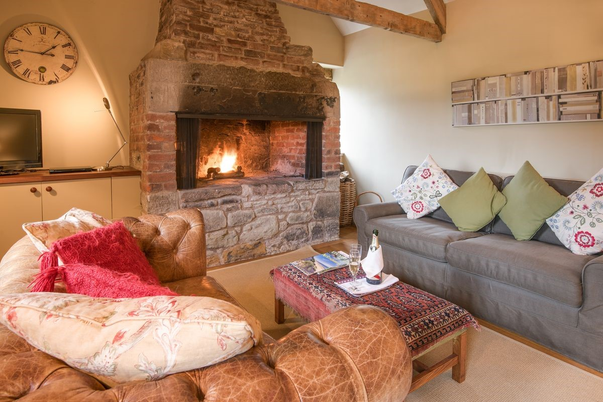 The Smithy, Crookham - sitting room fireside