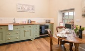 The Smithy, Crookham - kitchen & dining area