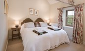 The Smithy, Crookham - bedroom with super king double bed