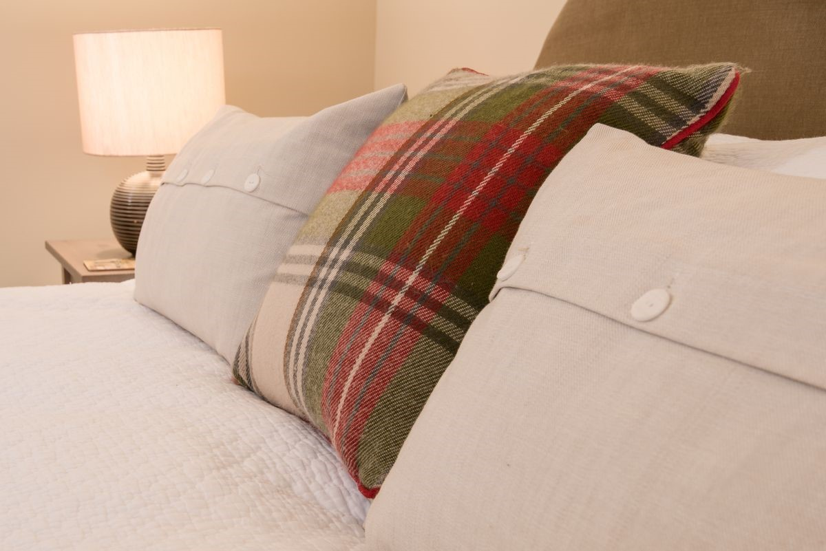 The Smithy, Crookham - bedroom cushions