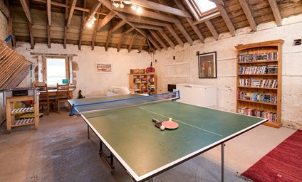 The games room is a great space for children and adults to enjoy.