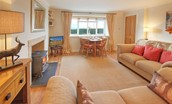 Three Acre Cottage - sitting room with dining table