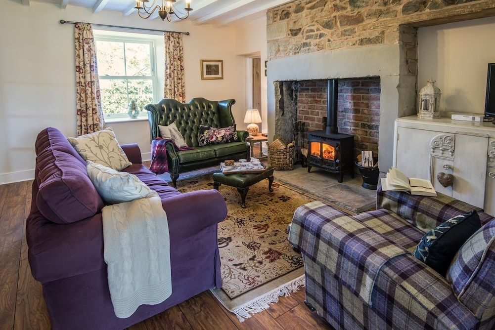 Well House - sitting room with wood burning stove