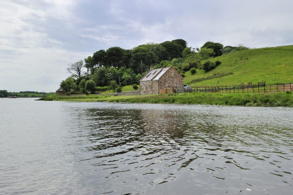 Whitesand Shiel - front & side aspect by River Tweed