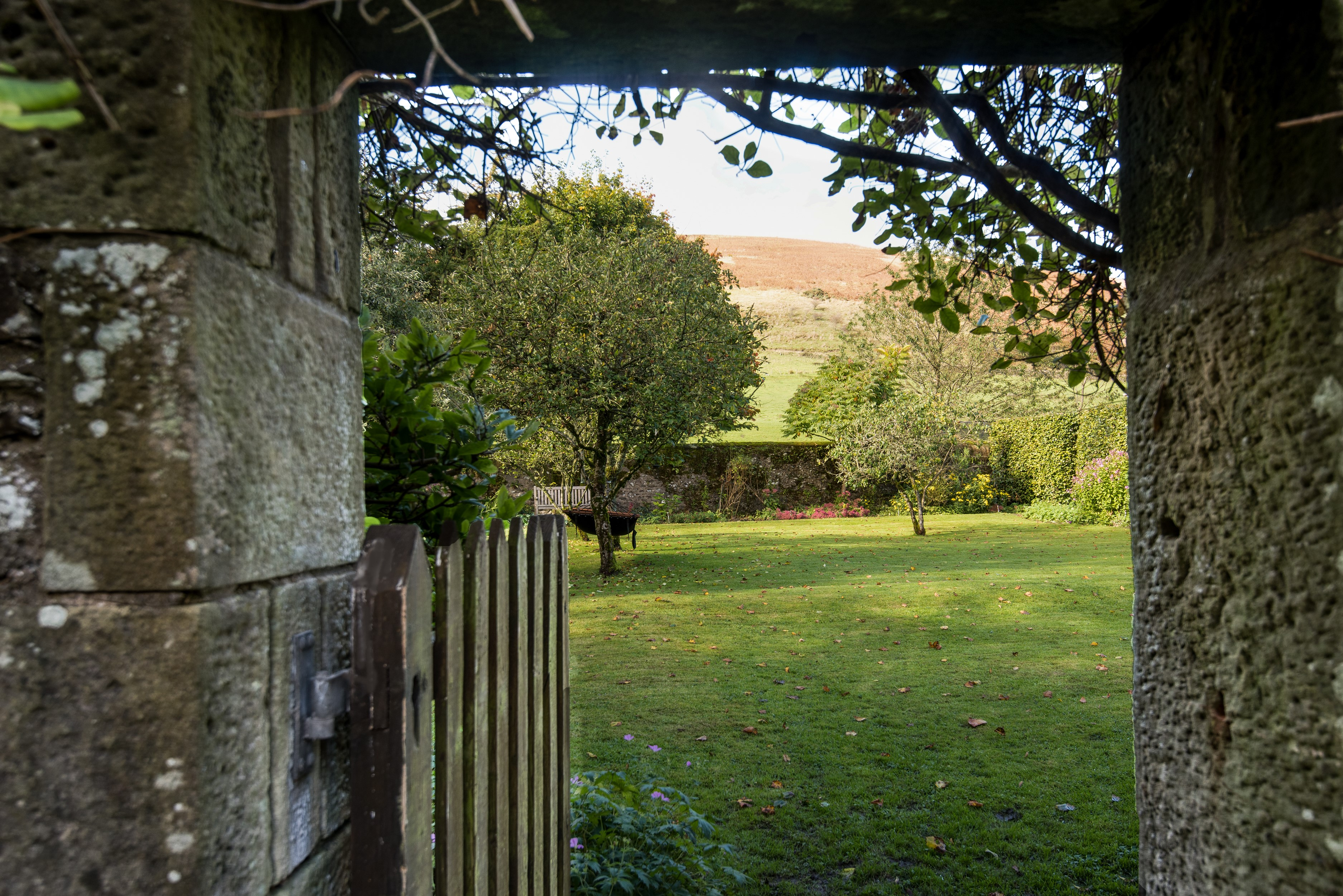 Kirkton House - gate to enclosed garden