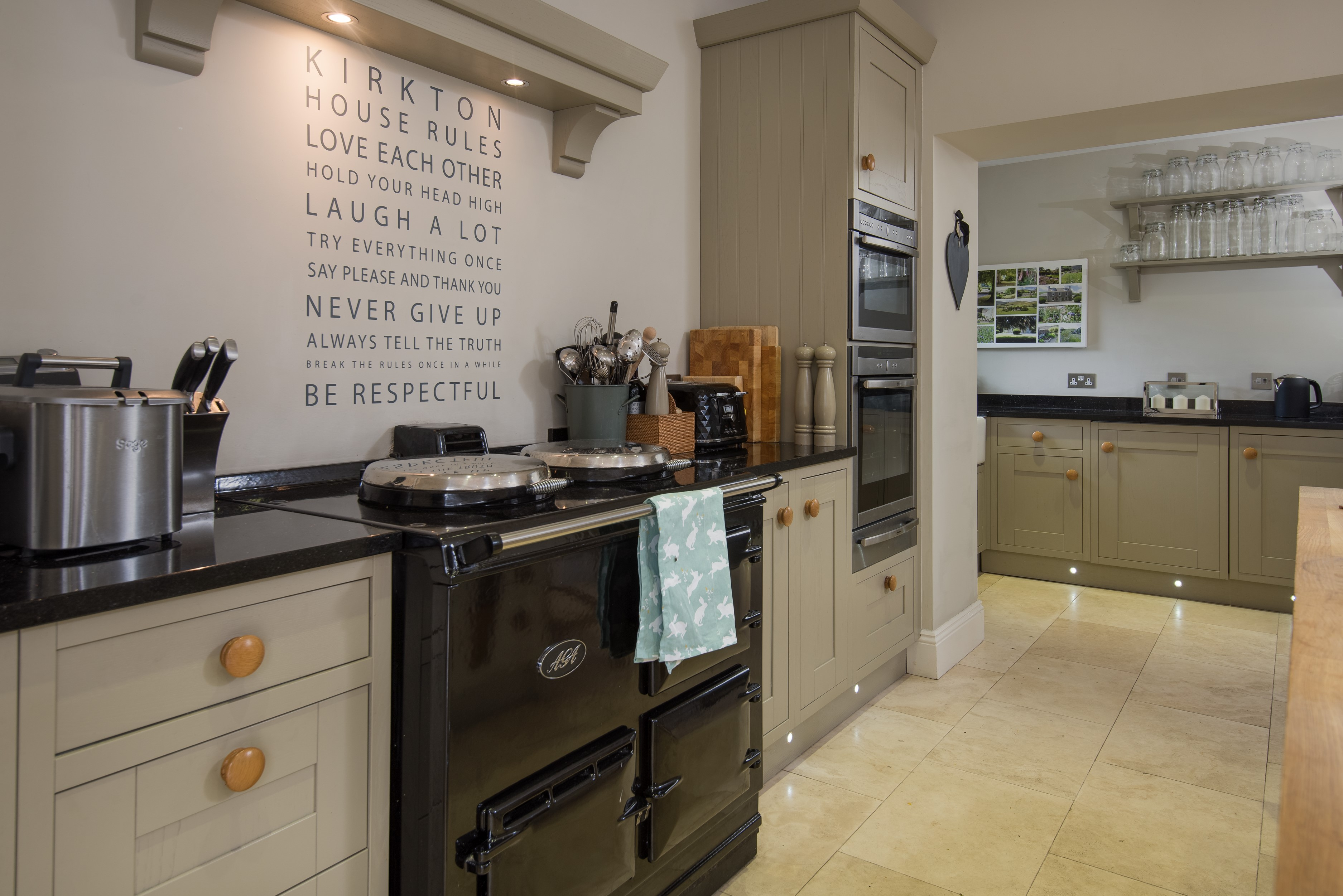 Kirkton House - kitchen with AGA