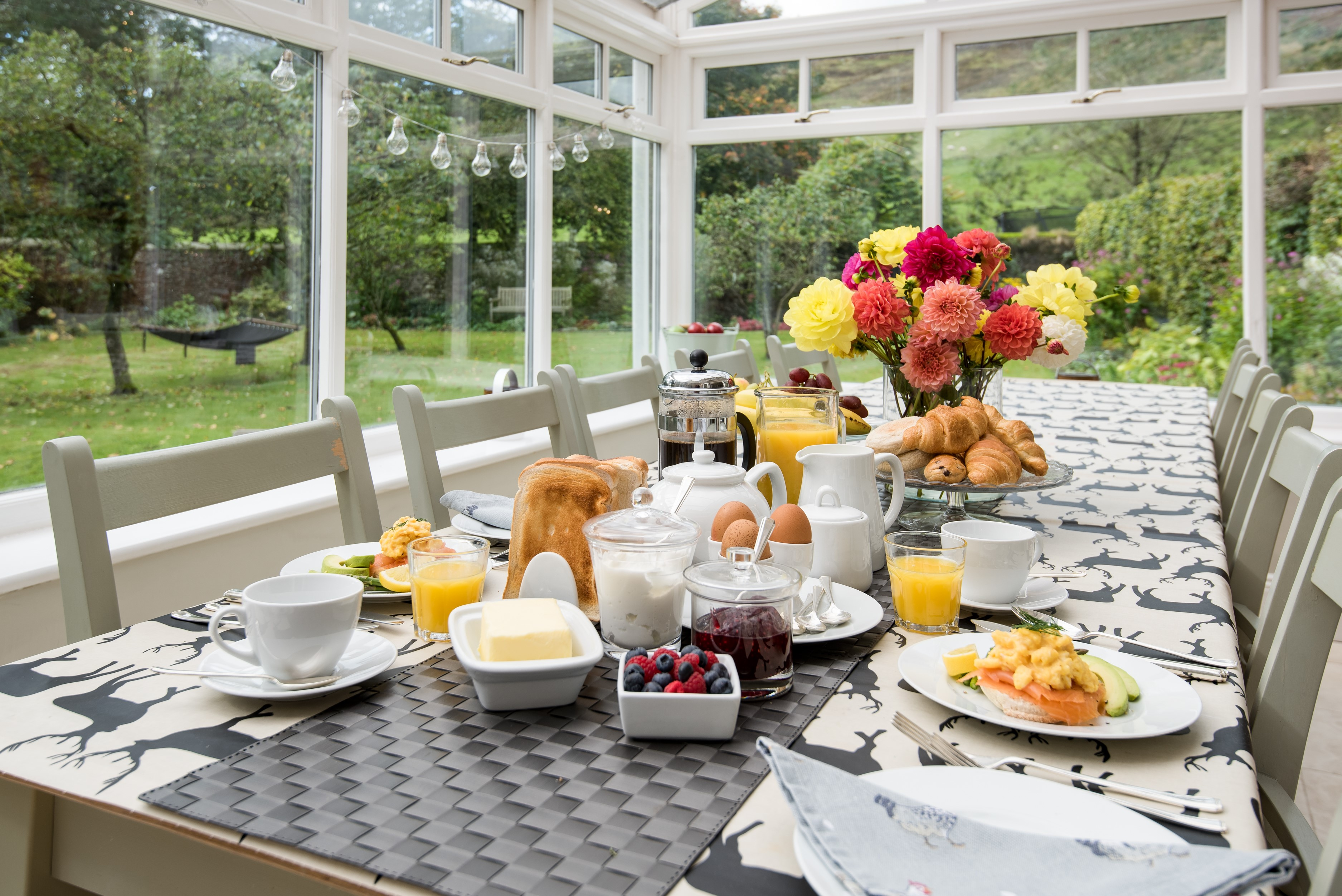 Kirkton House - conservatory dining table