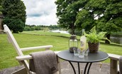 Hamilton House - outside seating area & view of River Tweed