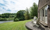 Hamilton House - sitting room access with view of River Tweed