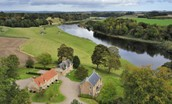 Swan's Nest - aerial footage showing the stunning riverside setting