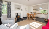 Garden Cottage - open plan living area & kitchen