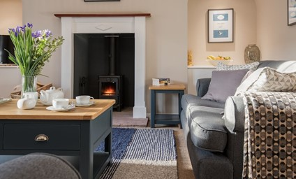 Arguably the prettiest cottage in Bamburgh, but the chocolate box exterior hides a surprisingly roomy living space with full height ceilings and wonderful country luxe furnishings.