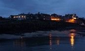Harbour Lights - Craster at night