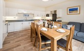 Dryburgh Farmhouse One - kitchen & dining area