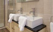 Dryburgh Farmhouse Two - bedroom two en suite bathroom double basins
