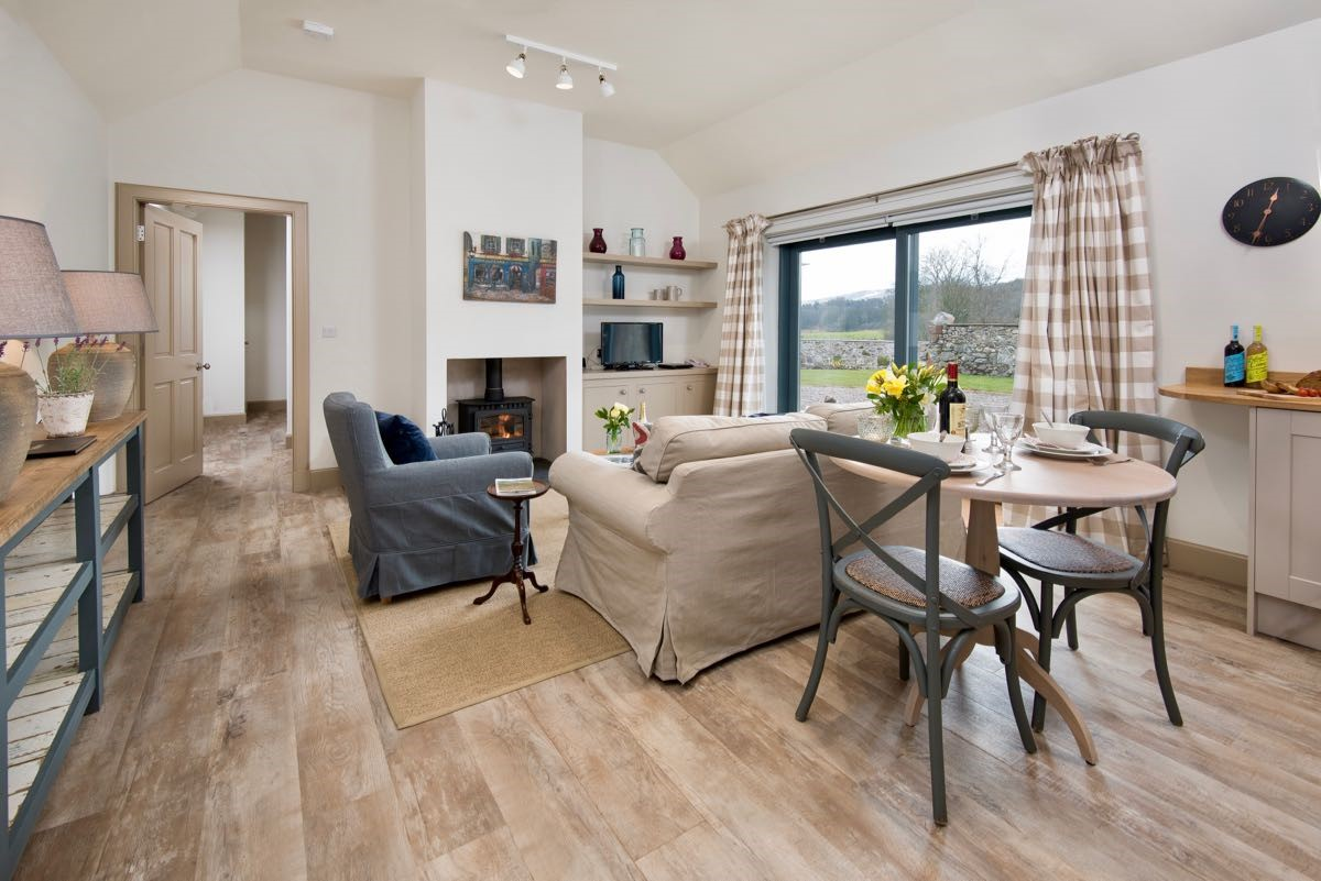 The Barn at Reedsford - open plan living area