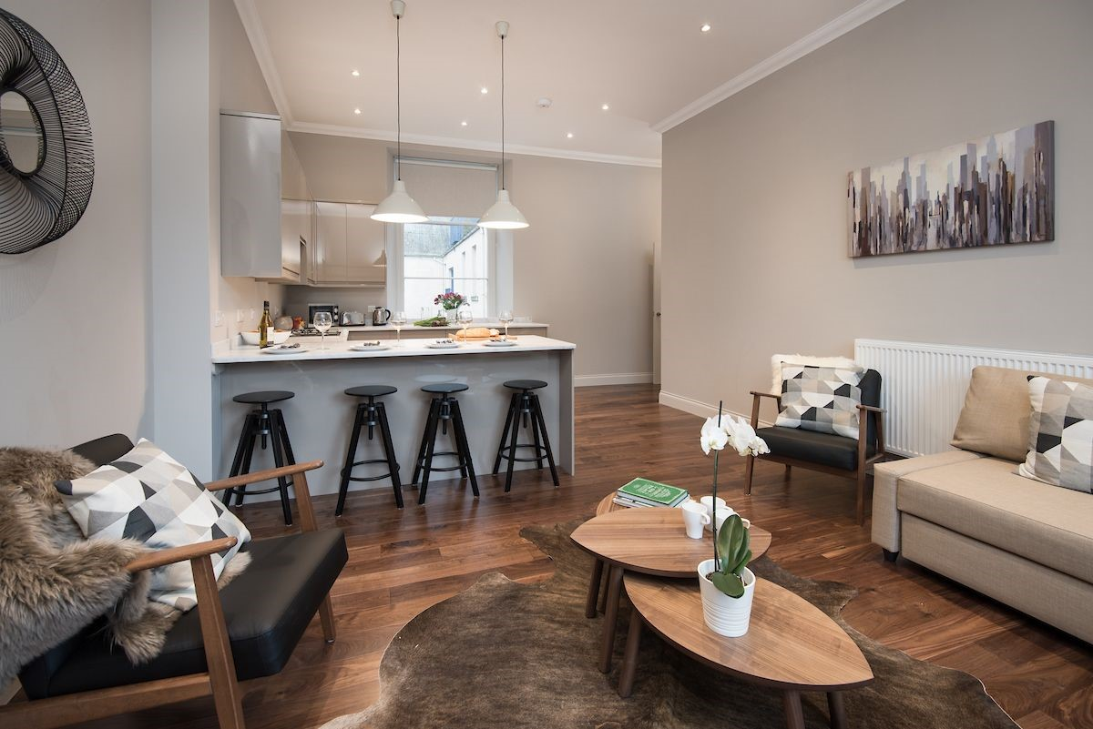 Barclay House - living and kitchen areas