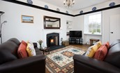 Windyrig - sitting room with wood burning stove