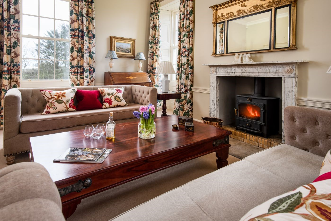 East House - drawing room fireside