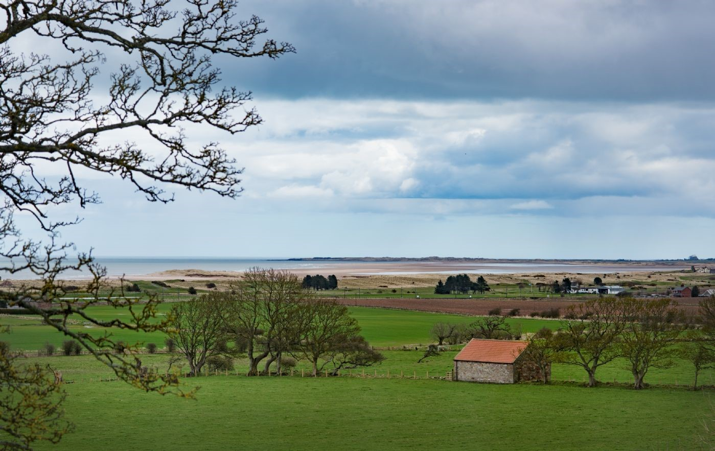 East House - view of Cheswick & Goswick Sands