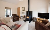 The Old Barn - wood burning stove & sitting room