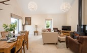 Leyland Barn - open plan living area