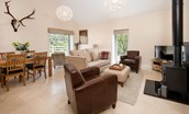 Leyland Barn - sitting room & dining area