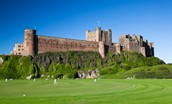 Bamburgh Castle and cricket pitch