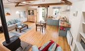 The Hay Loft - living area & kitchen