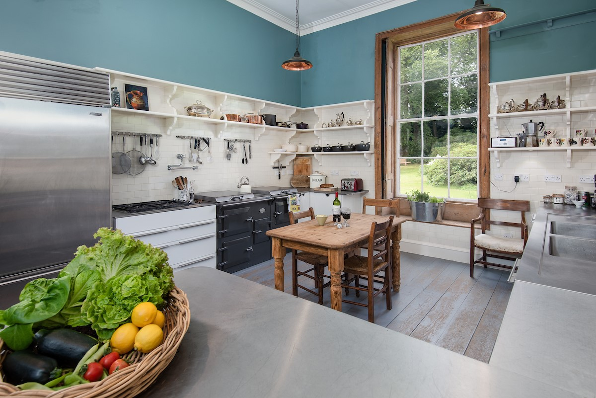 Lorbottle Hall - kitchen with Everhot range cooker