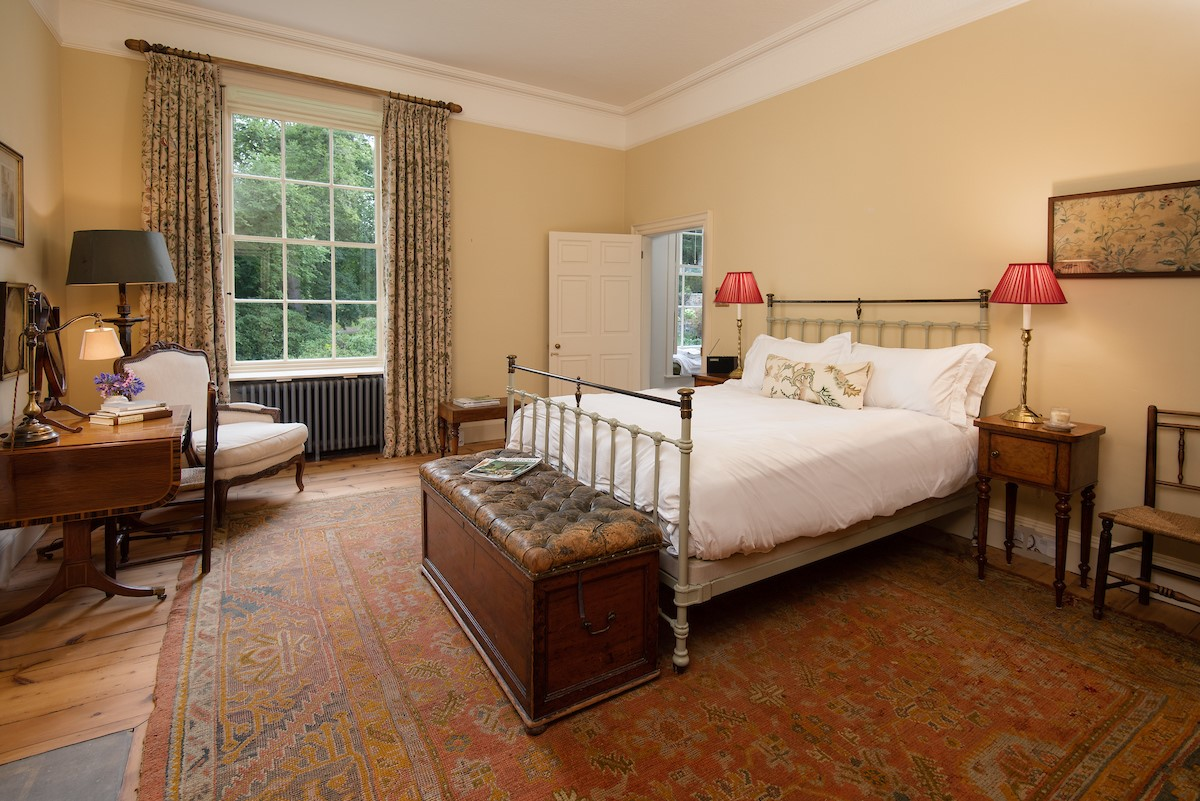 Lorbottle Hall - bedroom 2 with king size bed