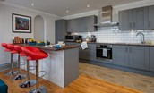The Five Turrets - kitchen with breakfast bar