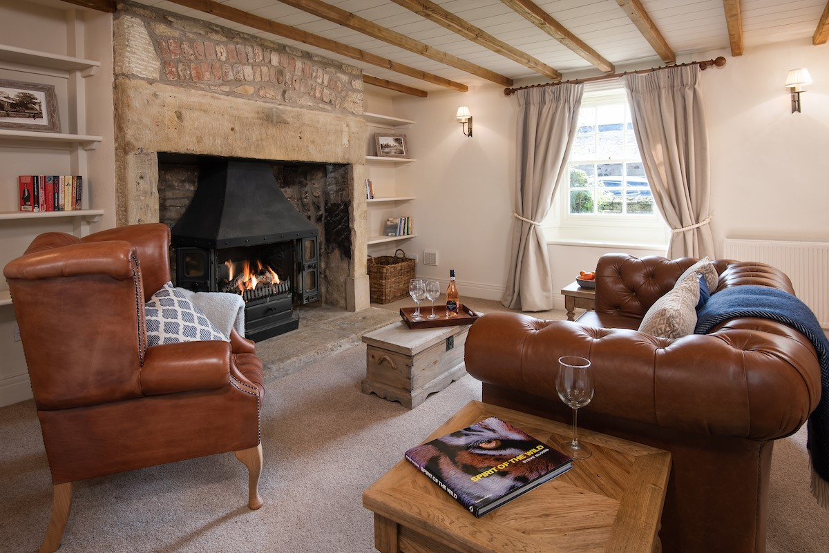 Bowls Cottage - sitting room two with inglenook fireplace