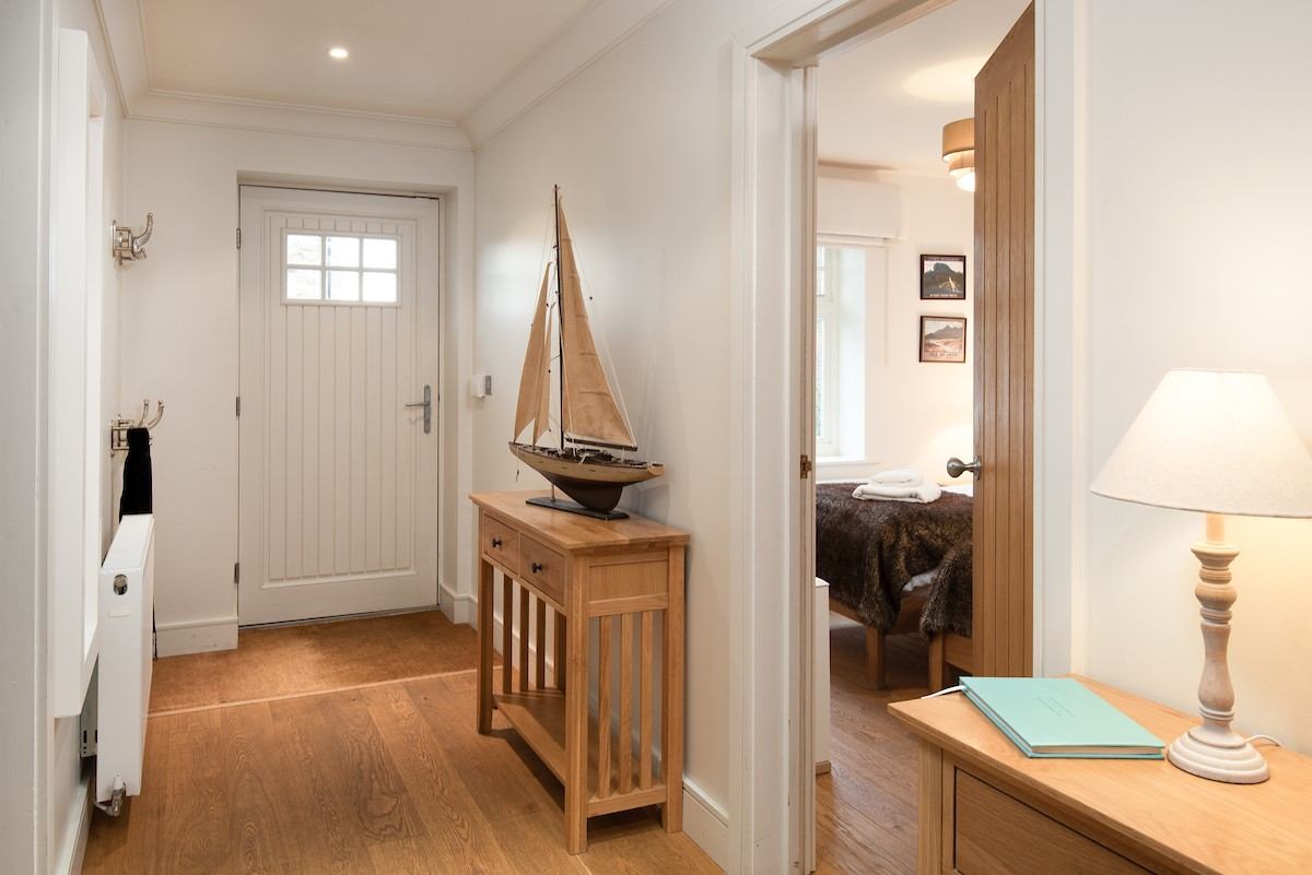 The Mast House - access hallway leading into two ground floor bedrooms