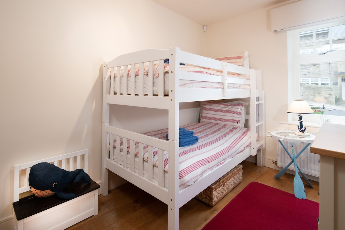 The Mast House - bedroom 2 with bunk beds - ground floor