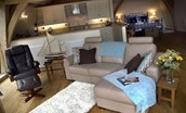The Boat House - open plan living area