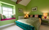 Lowtown Cottage - bedroom two with king size bed