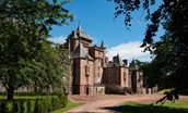 Thirlestane Castle - front aspect and driveway