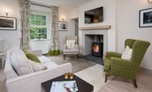 Crailing Coach House - fireside