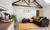 The Smithy at West Lyham - open plan living area