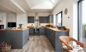 Lookout North - kitchen in charcoal grey
