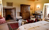 Fenton Tower - The Stewart - with antique furniture and original stone fireplace
