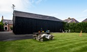Coledale Stables - enclosed garden with lawned area and inner courtyard